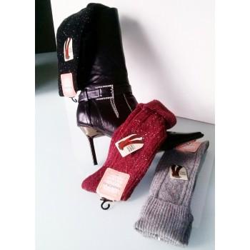 Modne volnene, visoke ženske nogavice (nad koleni)