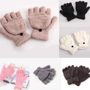 Moderne ženske rokavice (prosti prsti) s kapico